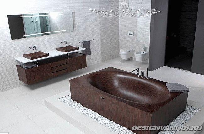 ванная из дерева