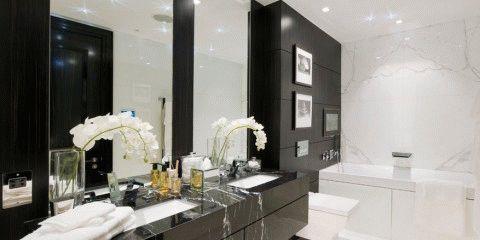 оформление ванных комнат в черных тонах