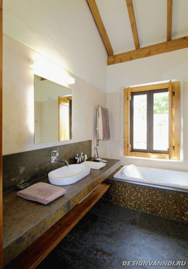 идеи дизайна ванной комнаты фото - 35