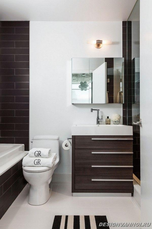 идеи дизайна ванной комнаты фото - 50