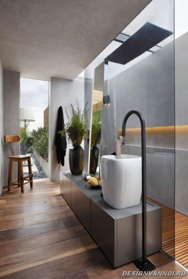 идеи дизайна ванной комнаты фото - 70