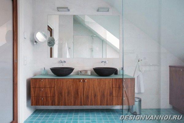 идеи дизайна ванной комнаты фото - 75