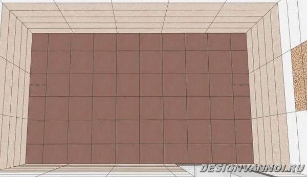 раскладка плитки в душевой-2