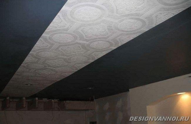 виниловые обои на потолок