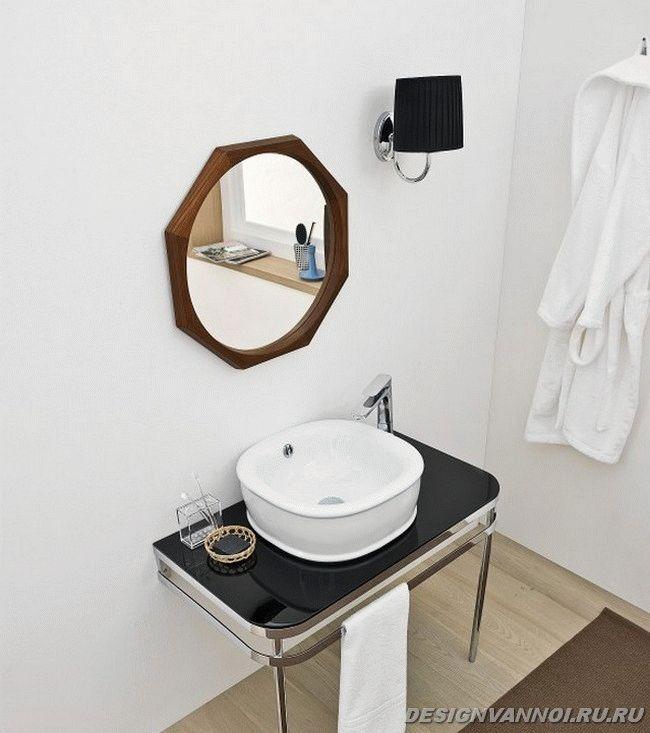 черно-белая ванна