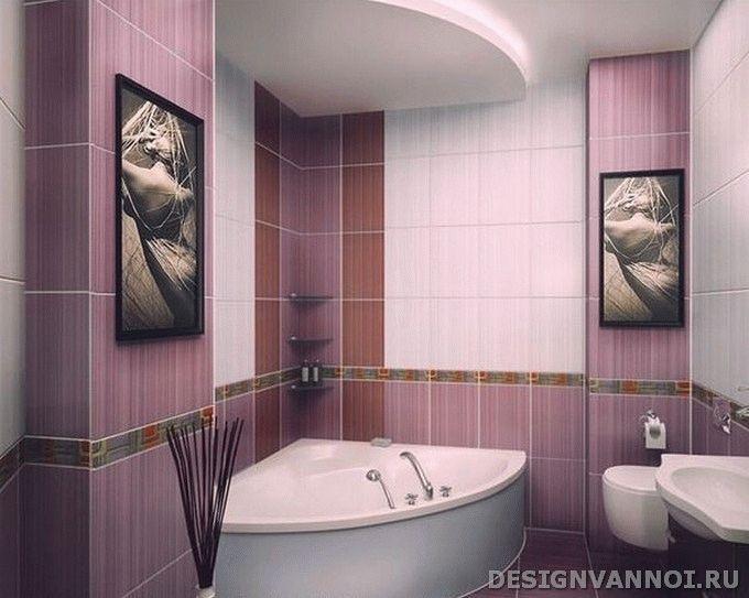 Фото дизайна фиолетовой ванной комнаты