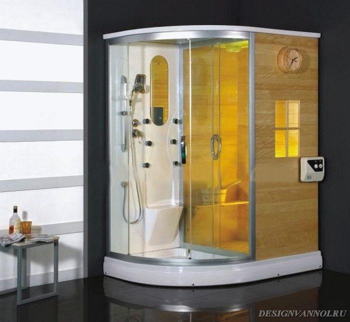 душевая кабина с ванной и сауной