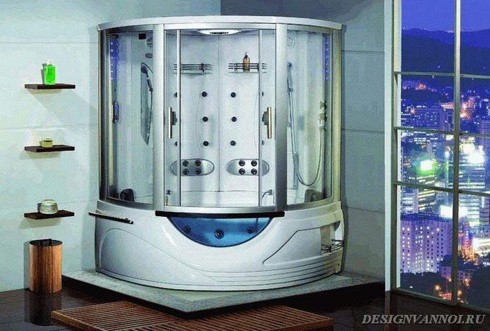 фото душевой кабины с ванной