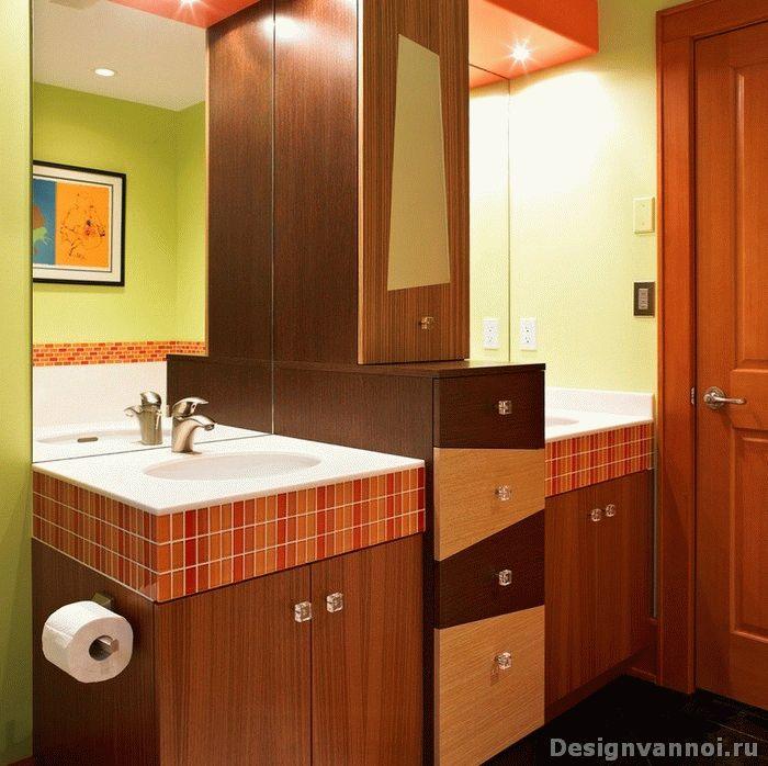 Освещение в интерьере оранжевой комнаты