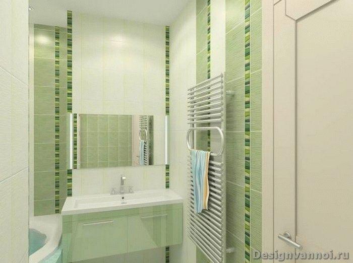 зеркало в ванной комнате зеленого цвета