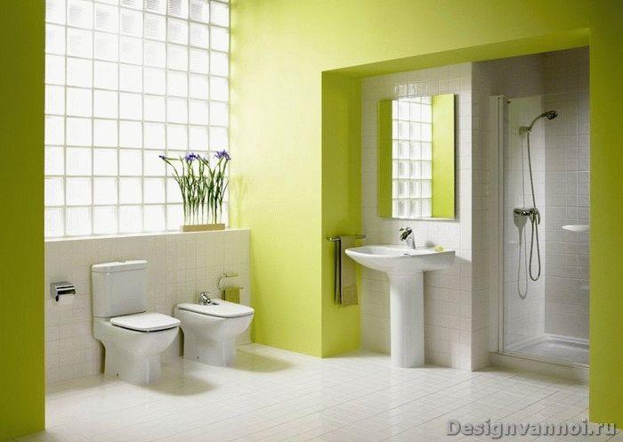 ванная зеленого цвета