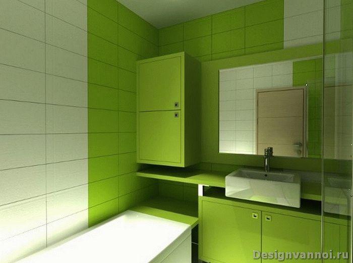 ванная комната зеленого цвета