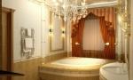 дизайн ванной с угловой ванной
