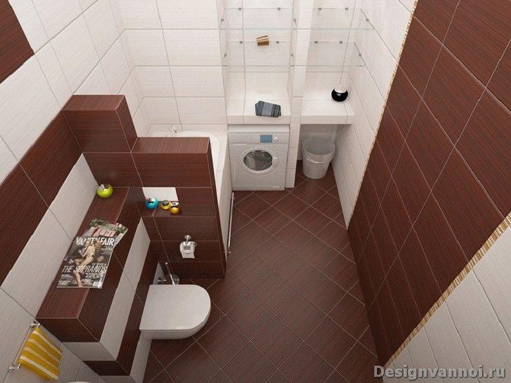 планировка маленьких ванных комнат