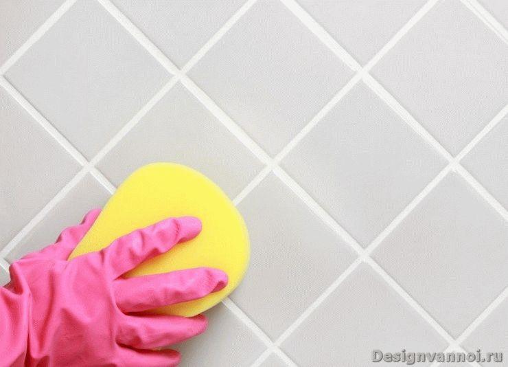 чем мыть плитку в ванной