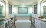 угловой шкаф для ванной комнаты