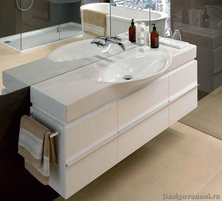 тумбы с раковиной в ванную комнату
