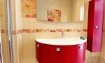 подвесные тумбы с раковиной в ванную комнату
