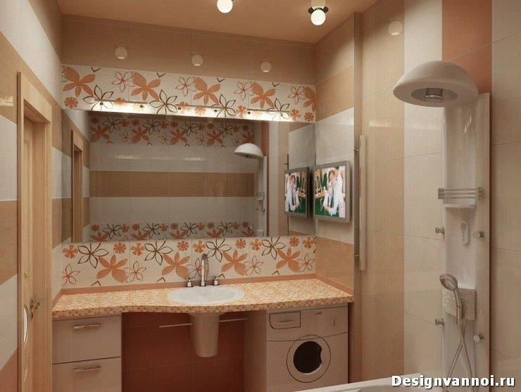 моющие обои в ванную фото