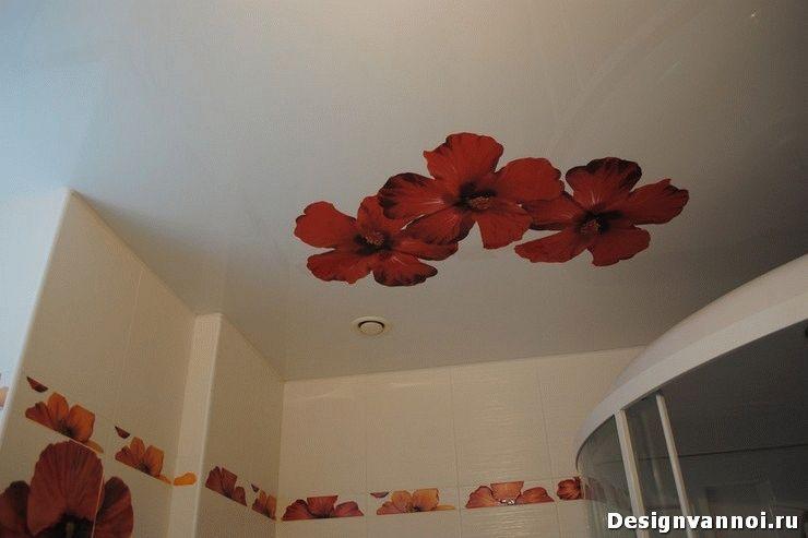 какой сделать потолок в ванной комнате