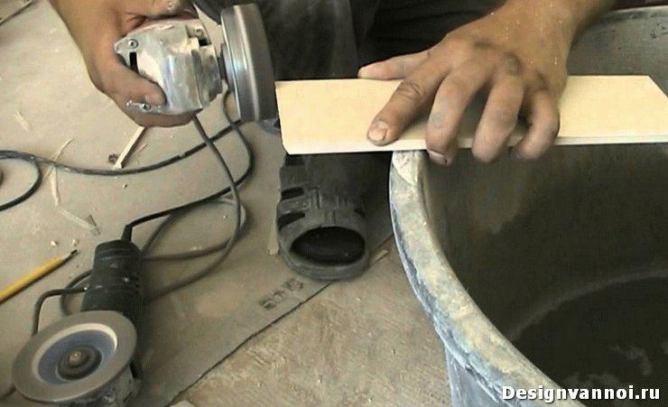 как резать плитку болгаркой