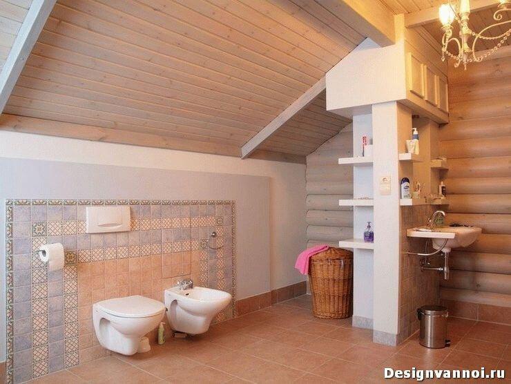 отделка ванной комнаты в деревянном доме