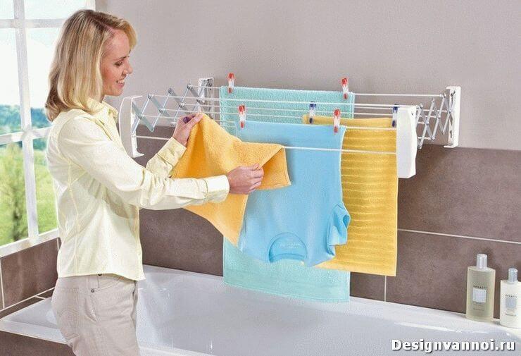 приспособление для сушки белья в ванной