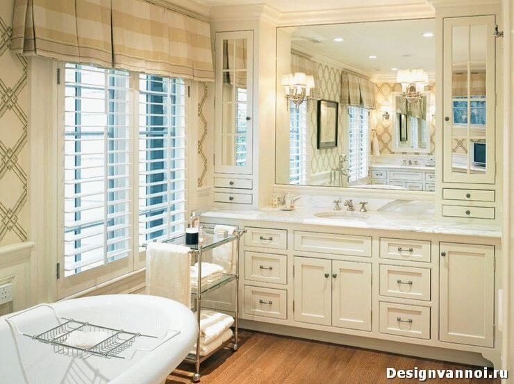 шкафы напольные в ванную комнату