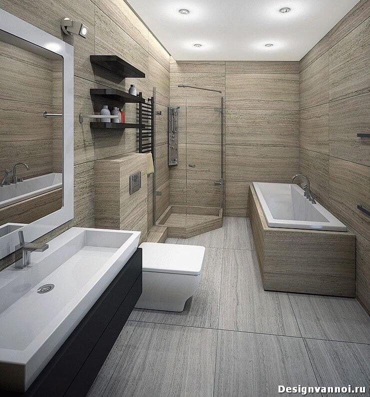 Дизайн туалета и ванной комнаты Фото примеров