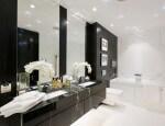 Оформление ванной комнаты в черных цветах